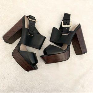 Shoemint Chunky Platform Black Heel Size 9